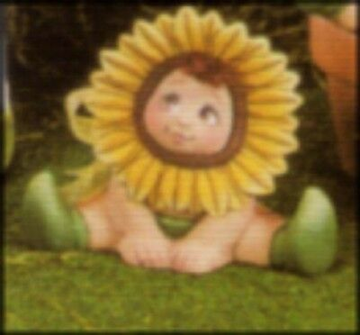 1998 Dona D1654 Mini Sunflower Baby with Hands Down Ceramic Mold  S2