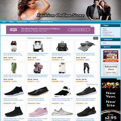 Fashion STORE - Complete, Ready Made Affiliate Website - Amazon+Adsense+Dropship