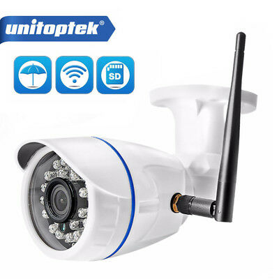 HD 720P Wireless IP Camera WIFI Outdoor Bullet Security Camera TF Slot Onvif P2P