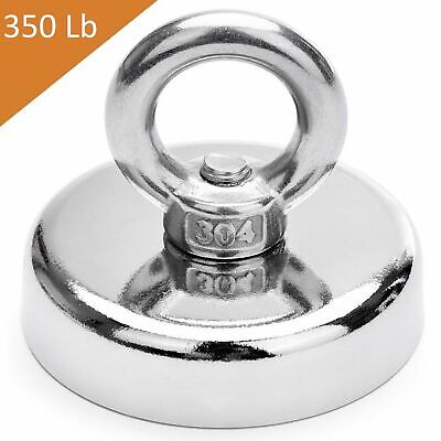 FISHING MAGNET 148 lbs Super Strong Neodymium Round Thick Eye bolt 1.89 INCH