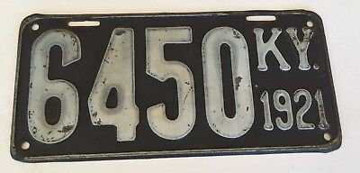 1921 Kentucky License Plate