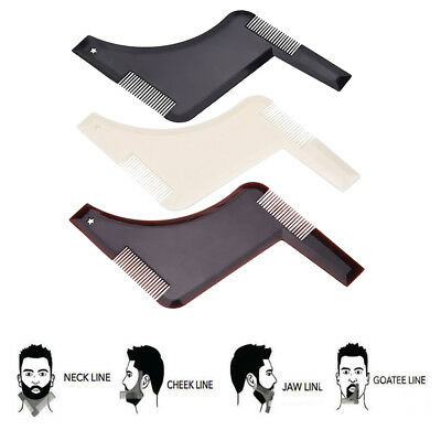 Men's Moustache Beard Shaping Styling Template Trimmer Comb Molding Tool