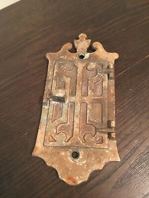 Vintage Brass Door Guard Old Peephole Peep Hole Speakeasy Architectural Salvage