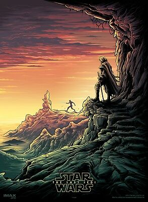 STAR WARS THE LAST JEDI AMC IMAX Exclusive Week 1 Poster - Ships Flat