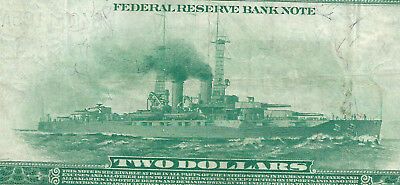 1918 $2 National Currency <<< Battleship >>> New York  <<< Pcgs 25 >>>