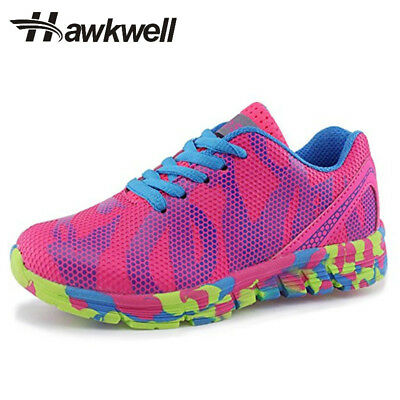 Hawkwell Kids Sport Shoes Athletic Lightweight Lace Up Mesh Boys Girls Anti-slip