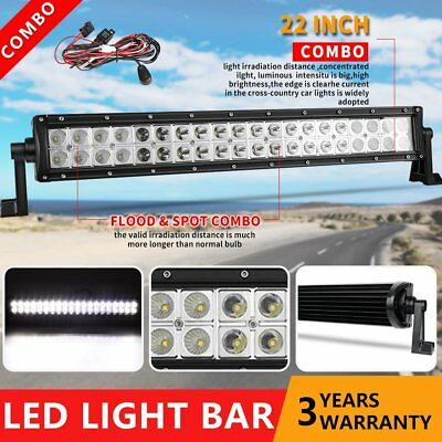 22inch CREE LED Light Bar 240W Spot Flood Combo 4WD Work Driving OffRoad 23/24""