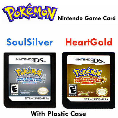 Pokemon Game Card SoulSilver HeartGold Version for Nintendo DS NDSL NSDI NDSLL D