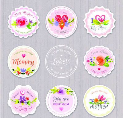 LOGO PRINTED Round Stickers -Custom Round Logo Labels - Personalised Labels