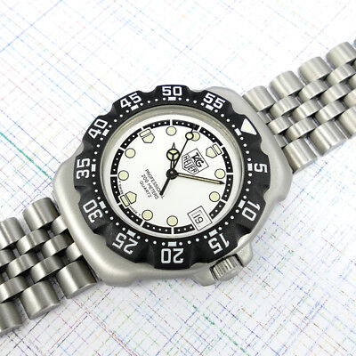 TAG Heuer Midsize F1  Formula 1  WA1218 White Dial, New Bezel, Ratchet, Glass