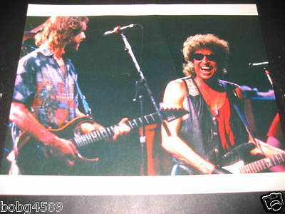 """Bob Weir (Grateful Dead) with Bob Dylan Photo, by Ron Delany, 1987, 8""""x10"""""""