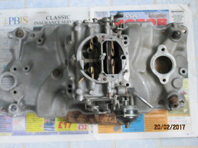 Chevy small-block alloy manifold + Carter AFB carb