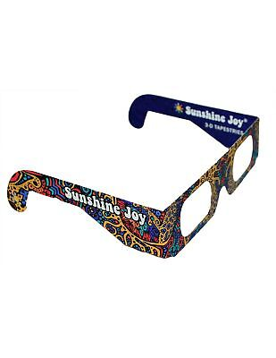 Sunshine Joy 3D Glasses - Card Stock - Amazing 3-D Effects - Works on all... New
