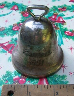 Vintage Christmas - Reed & Barton Christmas 1981 Bell - Sweet Holiday Find!