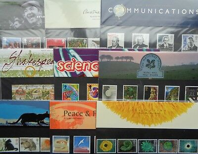 1995 to 1999 Commemorative Stamp Presentation Packs Choose Your Pack