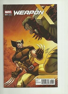 Weapon X #1 NM Ron Lim Classic Sabertooth 1:15 Variant Cover, Marvel Comics 2017