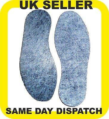 Extra Thick Real Felt Insoles Sports Work Boots Shoes All Sizes