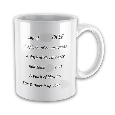 Cup of F*CKOFFEE Swear/Rude Funny Novelty Gift Mug