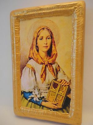 Saint Dymphna Rare Old World All Christian Roman Catholic Icon Art One of A Kind