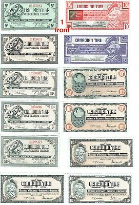 Canadian Tire Money Collection 1950s to present FREE shipping
