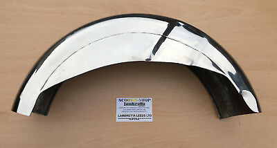 Lambretta Series 2 Stainless Steel Rear Mudguard  . Brand New