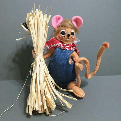 """Annalee Thanksgiving Doll Harvest Mouse 5"""" Farmer Crow Fall 2015"""