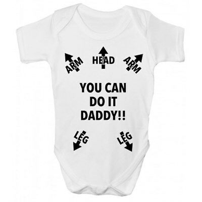 Funny You Can Do It Daddy!!  Babygrow - Funny Babies Clothing