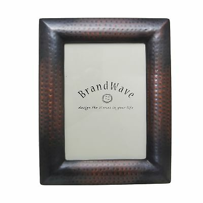 Hammered Copper Picture Frame - Hand-Hammered Antique Texture Vintage