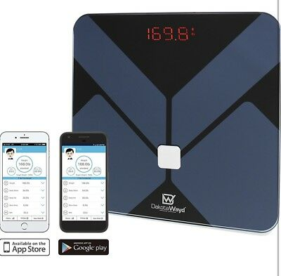 Smart Wireless Digital Bathroom Bluetooth Body Fat Scale iOS Android Mass BMI
