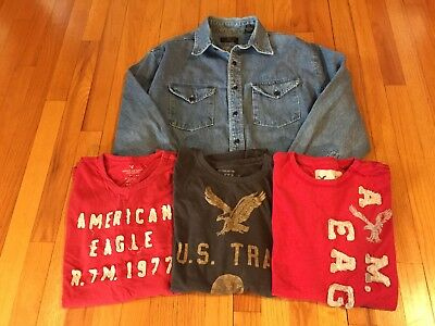 American Eagle Lot of Four Shirts - Men Medium