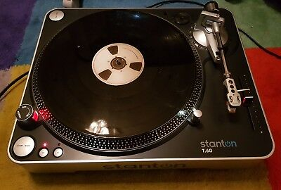 STANTON T60 Dj Professional Direct Drive Turntable with cover