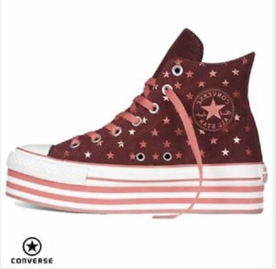 Converse Women's CT All Star Hi Platform Polka Dots Trainers Andorra/Pink/White