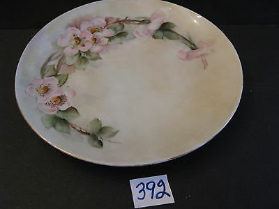 Hand Painted 7 3/4 inch Porcelain Dish  wild roses Weimar Germany
