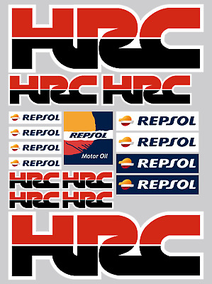 HONDA HRC REPSOL 17 Red/Black Stickers Decals Printed and Laminated Motorcycle