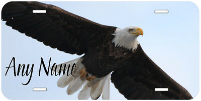Bald Eagle Aluminum Any Text Personalized Car Auto Tag Novelty License Plate
