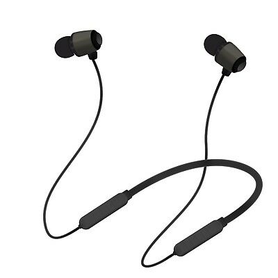 Bluetooth Headsets, HeQiao Magnetic Bluetooth Earphones Behind-the-Neck H... New