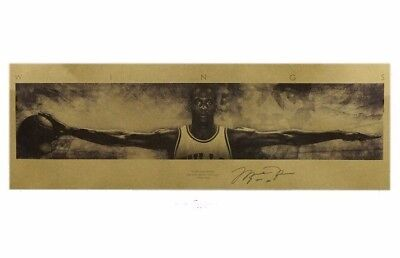 NEW Michael Jordan Wings Vintage Basketball Retro Poster 29x10 in. Sport Picture