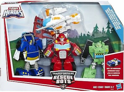 "Transformers Rescue Bots 4 Pack Blades, Chase, Heatwave & Boulder ""IN STOCK"""