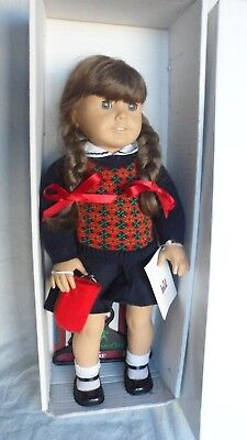 Pleasant Company / American Girl Doll Molly Wearing Original Meet Outfit In Box