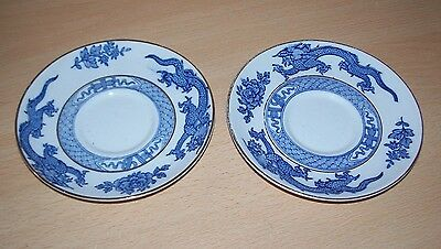 Booths China - Pair of Dragon Saucers