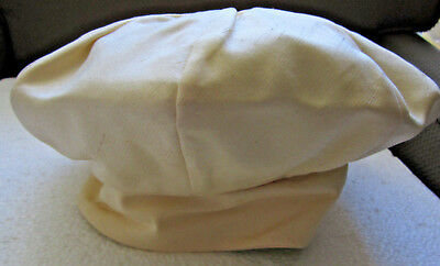 NWT Vtg Raw Silk Beret Hat Brim I. Magnin Cream Butter Yellow Haute Couture