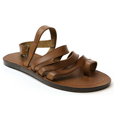 BRAND NEW HANDMADE BROWN LEATHER ROMAN STYLE SANDALS FOR MEN Size 7 US Medium D