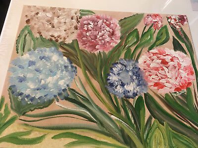 Hand paint Acrylic Painting on Flat Canvas Home Decor Wall Art Floral