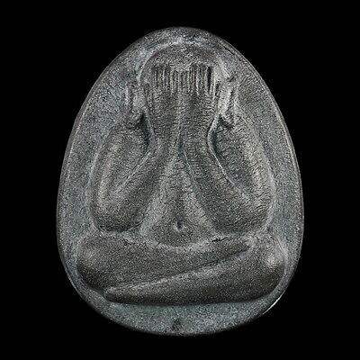 Phra Pidta (Close Eyes) LP Toa Wat Pradoochimplee, Old Thai Buddha Amulet