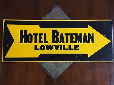 Double Sided Sign Hotel Bateman Lowville Arrow Sign NY New York Advertising