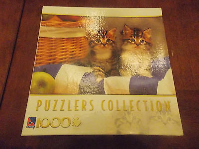 Puzzlers Collection 1000 Piece Puzzle Picnic Kittens New Sealed