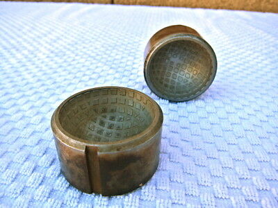 Vintage Mesh Square Dimple golf ball mold - circa 1905. Solid Steel. With extras