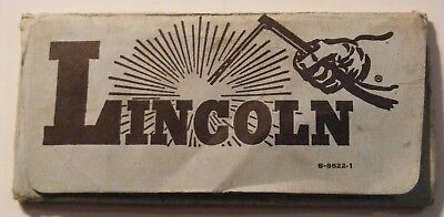Vtg LINCOLN Super VISIBILITY LENS Shade No.9 Welding