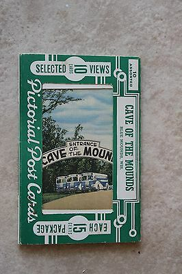 Vintage Souvenir Postcards (10) in holder - Cave of the Mounds, Blue Mounds, WI