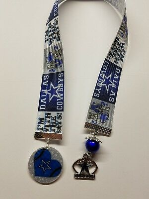 1 Dallas Cowboys Inspired Handmade Ribbon Bookmarks/Ribbon Bookmarks For Books
